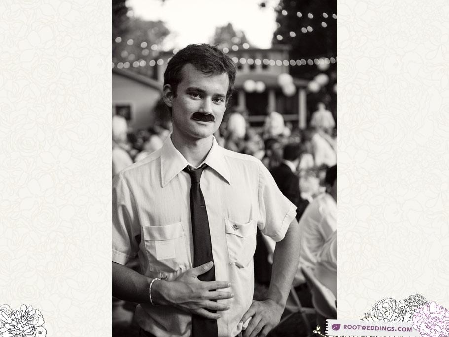Root Weddings - Nashville Backyard Wedding Mustache