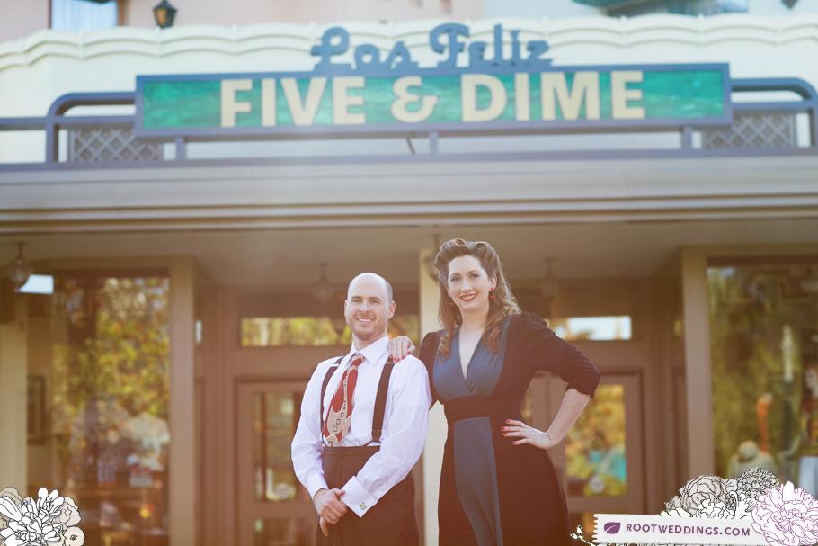Disneyland Buena Vista Street Engagement Session