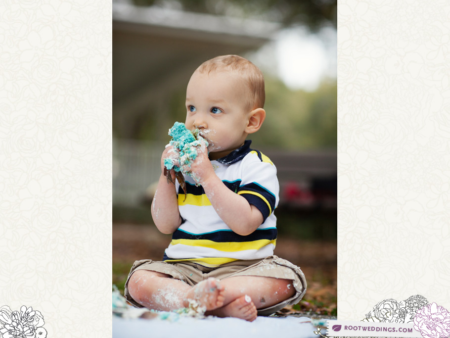 Windermere Florida family session first birthday cake smash
