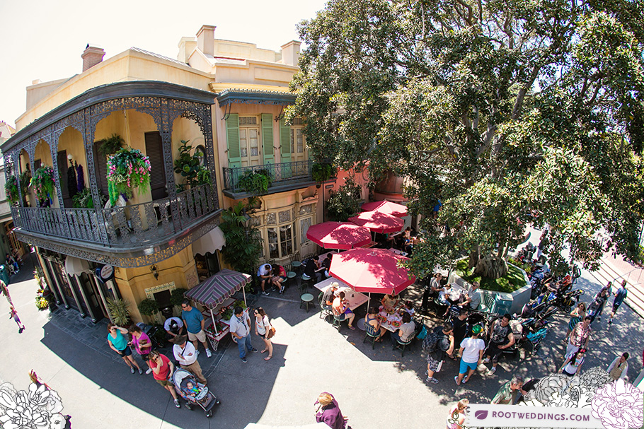 Disneyland  Club 33 patio view