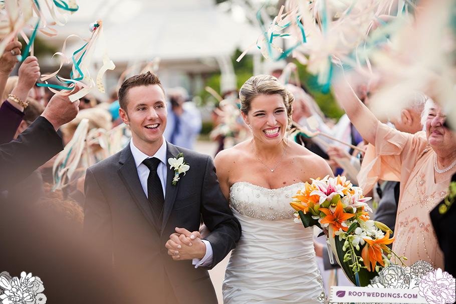 Disney Grand Floridian Wedding Pavilion Streamer Exit