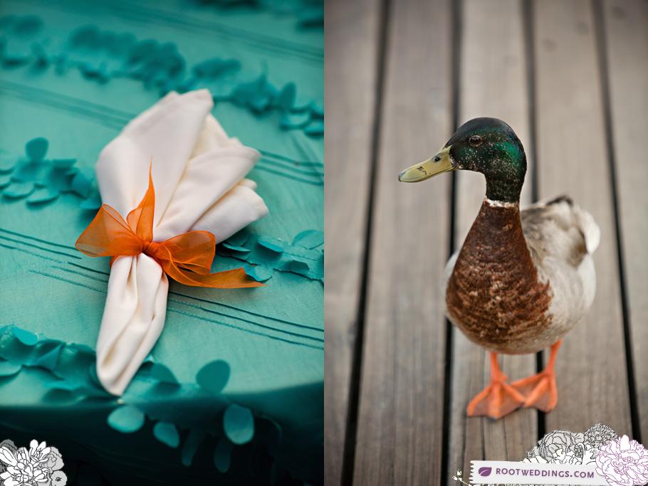 Root Weddings Walt Disney World Yacht Club Wedding Turquoise Linens
