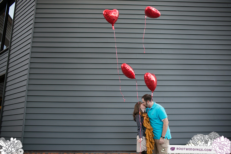 Heart Balloons Engagement Session