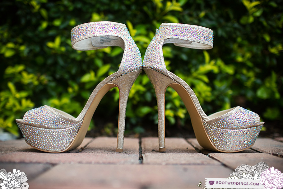 Bride's Bling Shoes