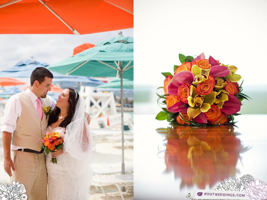 Disney Cruise Line Wedding Disney Dream Castaway Cay Umbrella Love