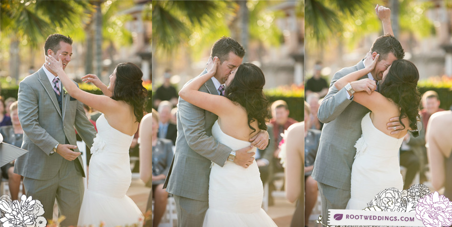 Ceremony kiss at Rosen Shingle Creek Orlando