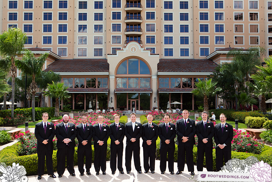 Rosen Shingle Creek Orlando Wedding Groomsmen