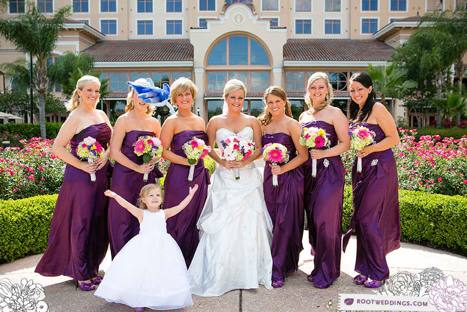 Rosen Shingle Creek Orlando Wedding Bridesmaids