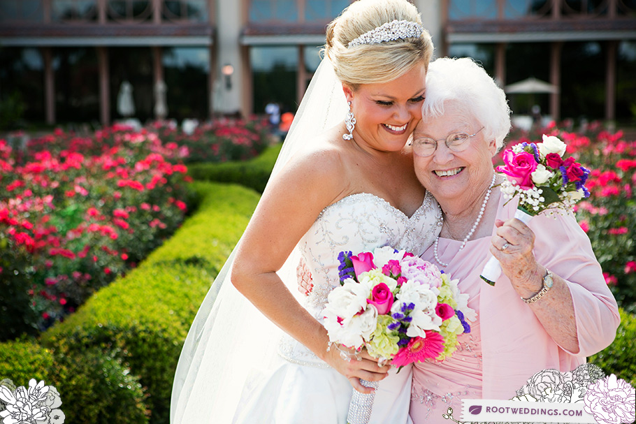 Rosen Shingle Creek Orlando Wedding Bride with Grandma