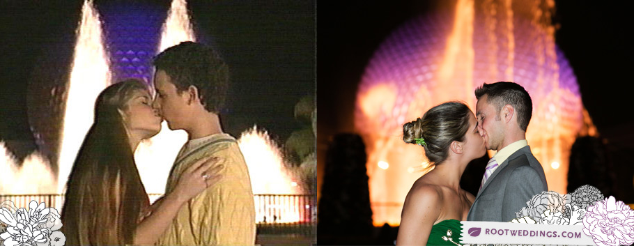 Boy Meets World Kiss Walt Disney World Epcot Fountain Cory Topanga