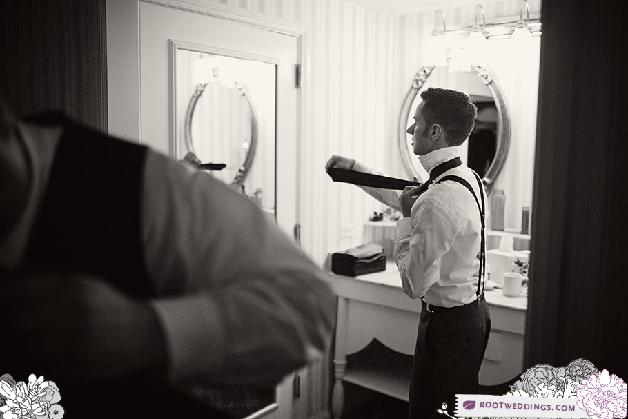 Disney World Boardwalk Inn Groom Getting Ready