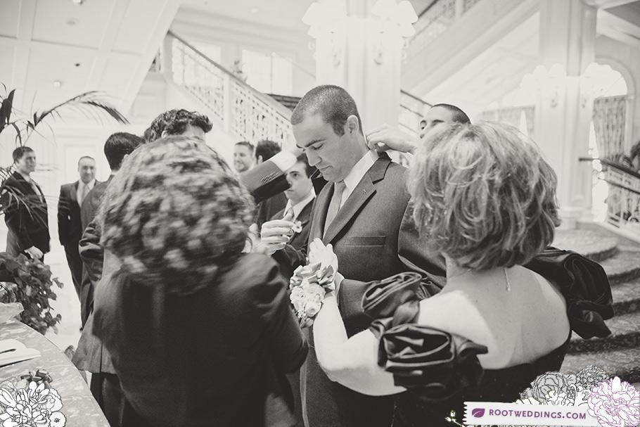 Walt Disney World Grand Floridian Wedding Groom Getting Ready
