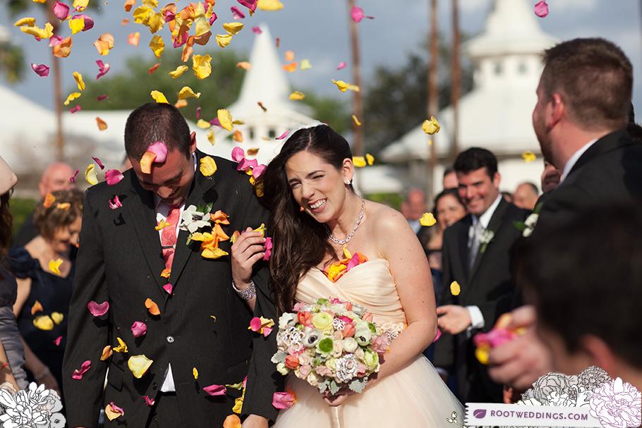 Walt Disney World Grand Floridian Wedding Pavilion Petal Toss