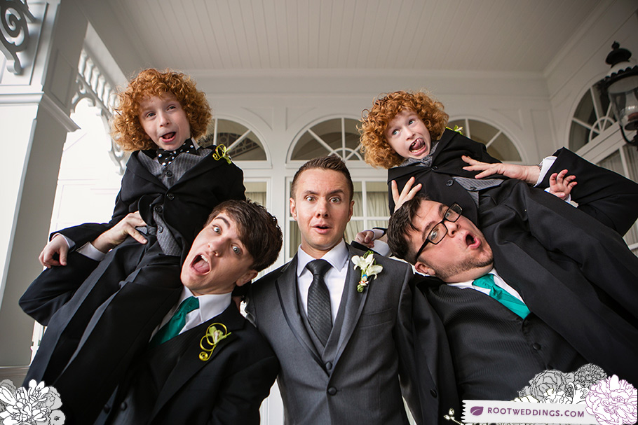 Twins Groomsmen Portrait