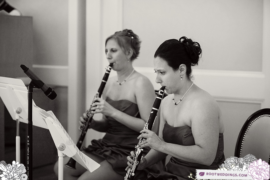 Bridesmaids playing clarinet