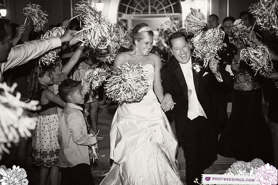 Rosen Shingle Creek Orlando Wedding Pom Pom Shaker Exit