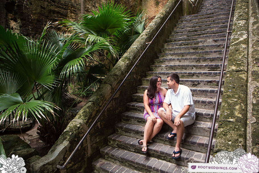 Disney Cruise Line Engagement Session on Nassau : The Queen's Staircase