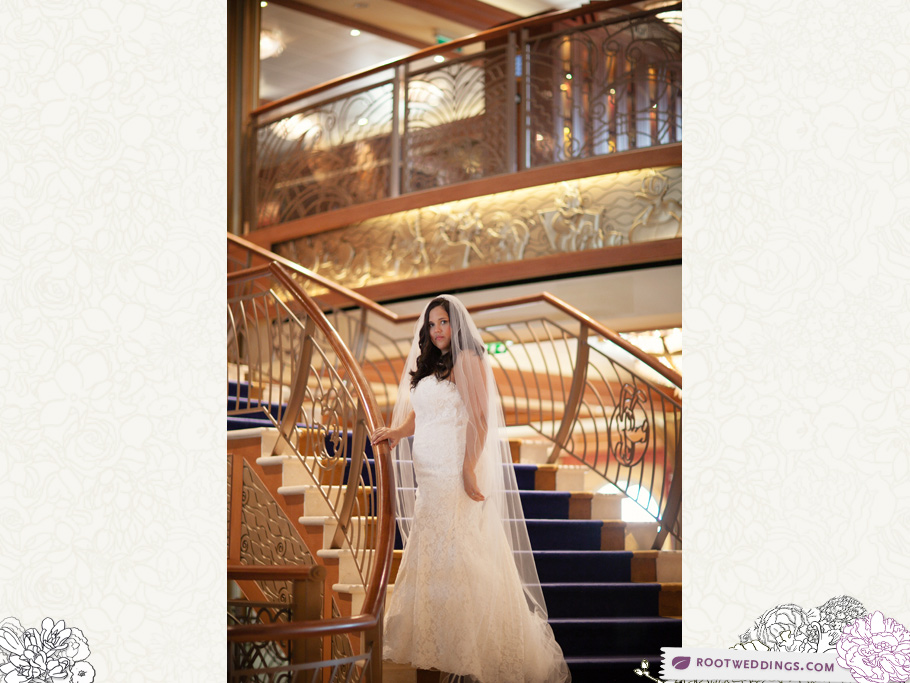 Disney Cruise Line Castaway Cay Wedding - Disney Dream Staircase in Lobby