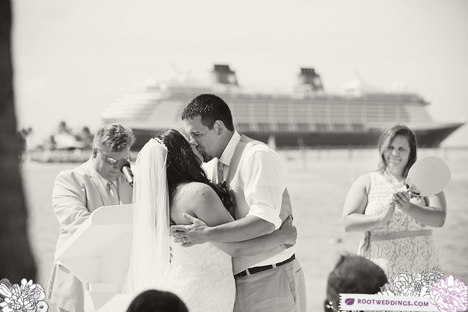 Disney Cruise Line Castaway Cay Wedding - Kiss with Disney Dream