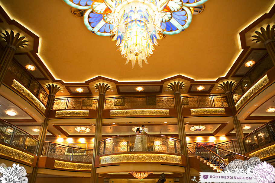 Disney Cruise Line Wedding - Disney Dream Lobby