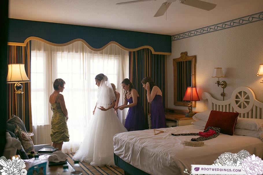 Walt Disney World Wedding Yacht Club Resort Getting Ready