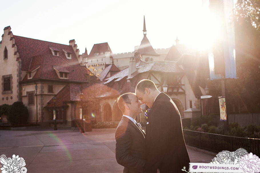 Walt Disney World Same Sex Gay Wedding at Epcot's Germany Pavilion