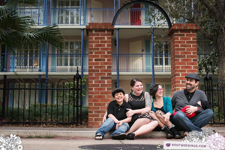 Disney Port Orleans French Quarter Family Session