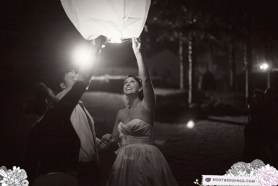 Winter Park Racquet Club WPRC Wedding Wish Lanterns