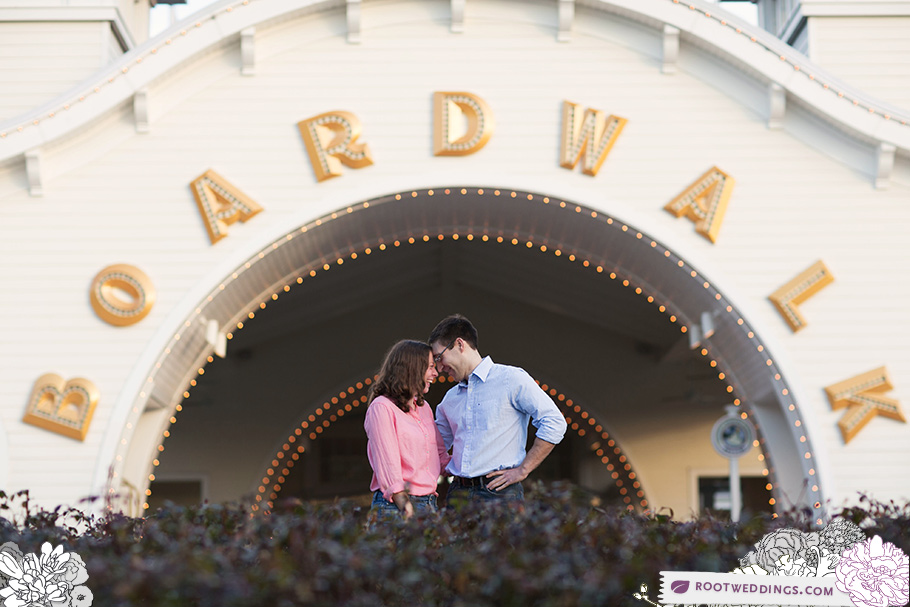 Walt Disney World Engagement Session at Disney's Boardwalk Inn Resort