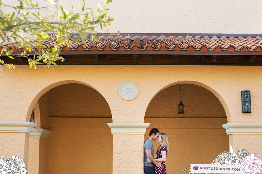 Rollins College Engagement Session Winter Park Florida E-Events Bride