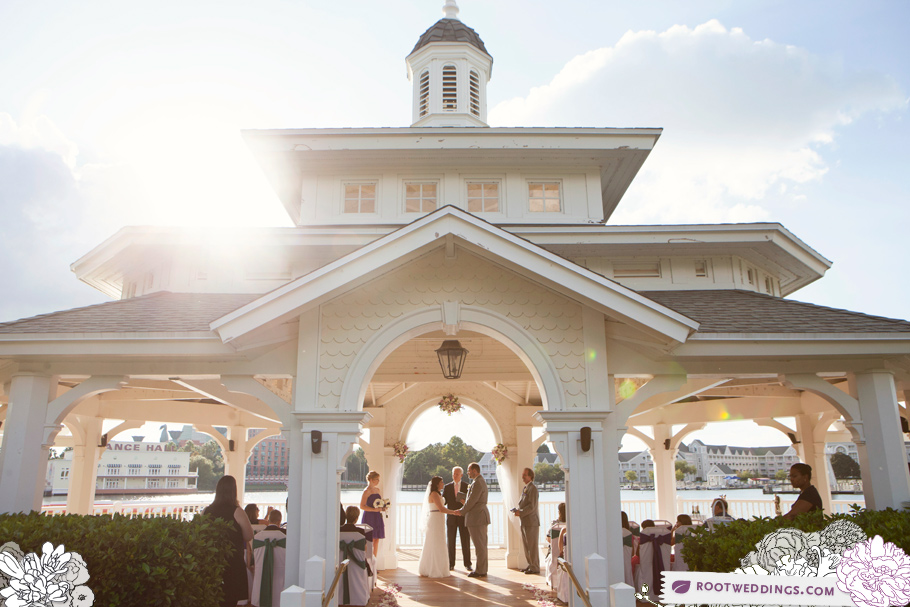 Disney Wedding Sea Breeze Point Boardwalk Inn