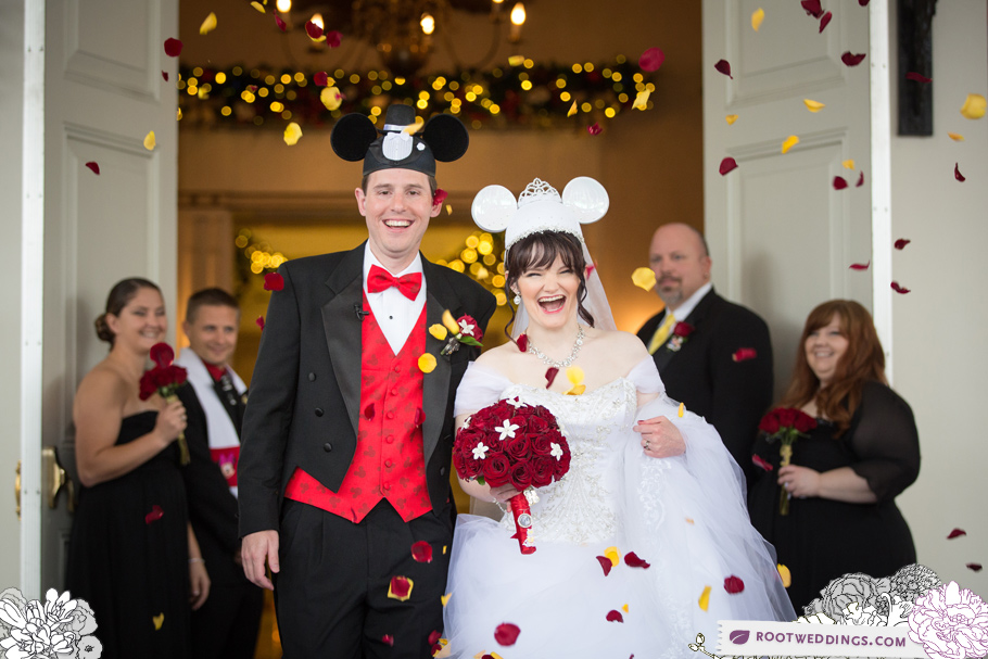 Disney Epcot American Pavilion Wedding