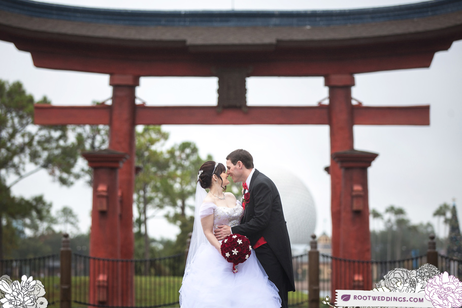 Disney Epcot Japan Pavilion Wedding