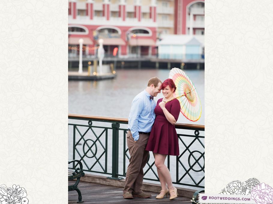 Disney World Boardwalk Inn Engagement Session
