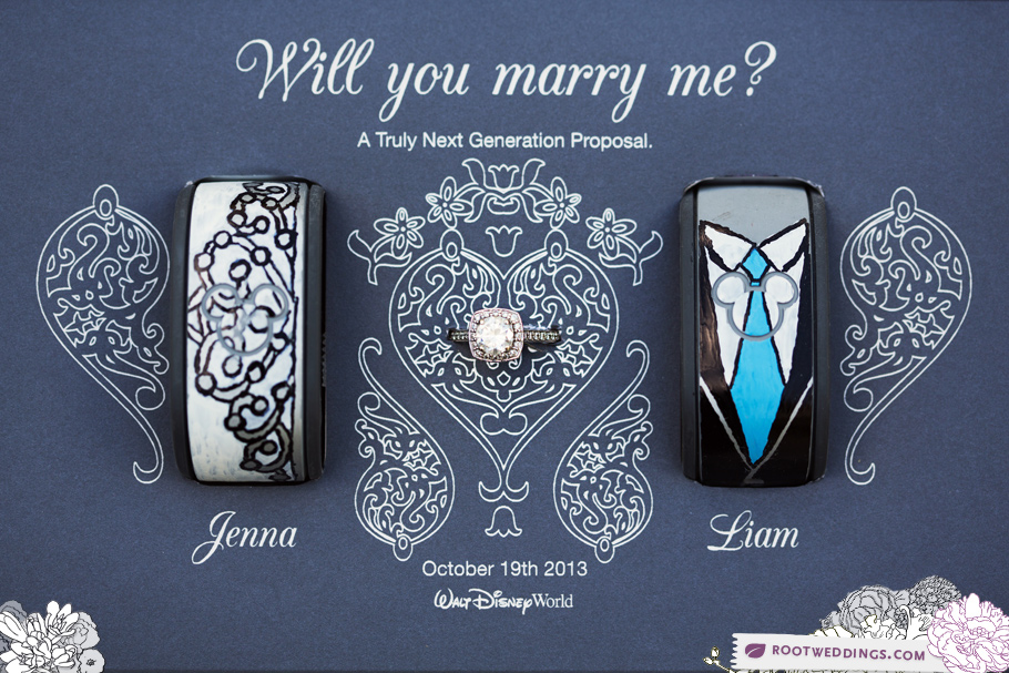 Walt Disney World Magic Band Wedding Proposal