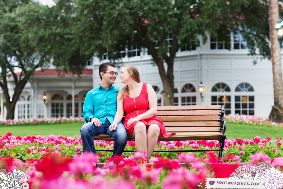 Disney Grand Floridian Engagement Session 002