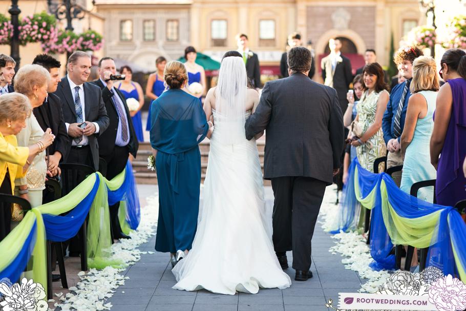 Disney Epcot Italy Wedding Atlantic Dance Hall Reception 23