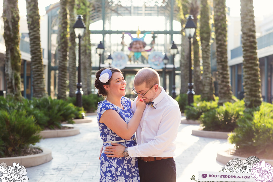 Port Orleans Riverside Engagement Session 006